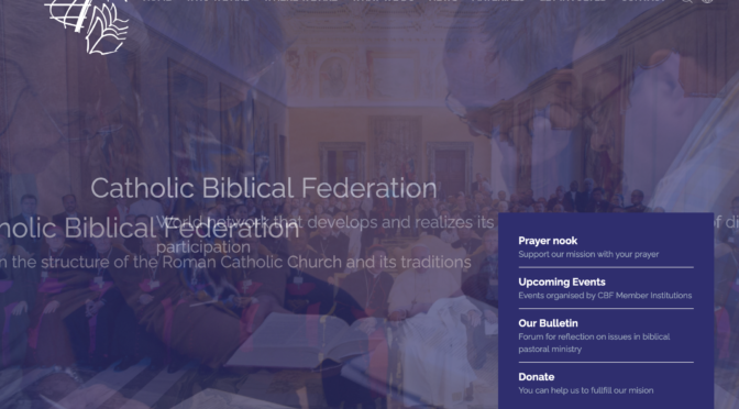 Mina Monier lecture at the Catholic Biblical Federation