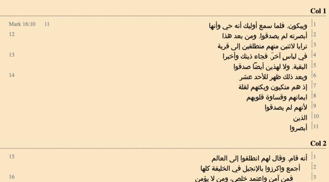 MK 16 in the Arabic Codex Pandeli (Mina Monier)